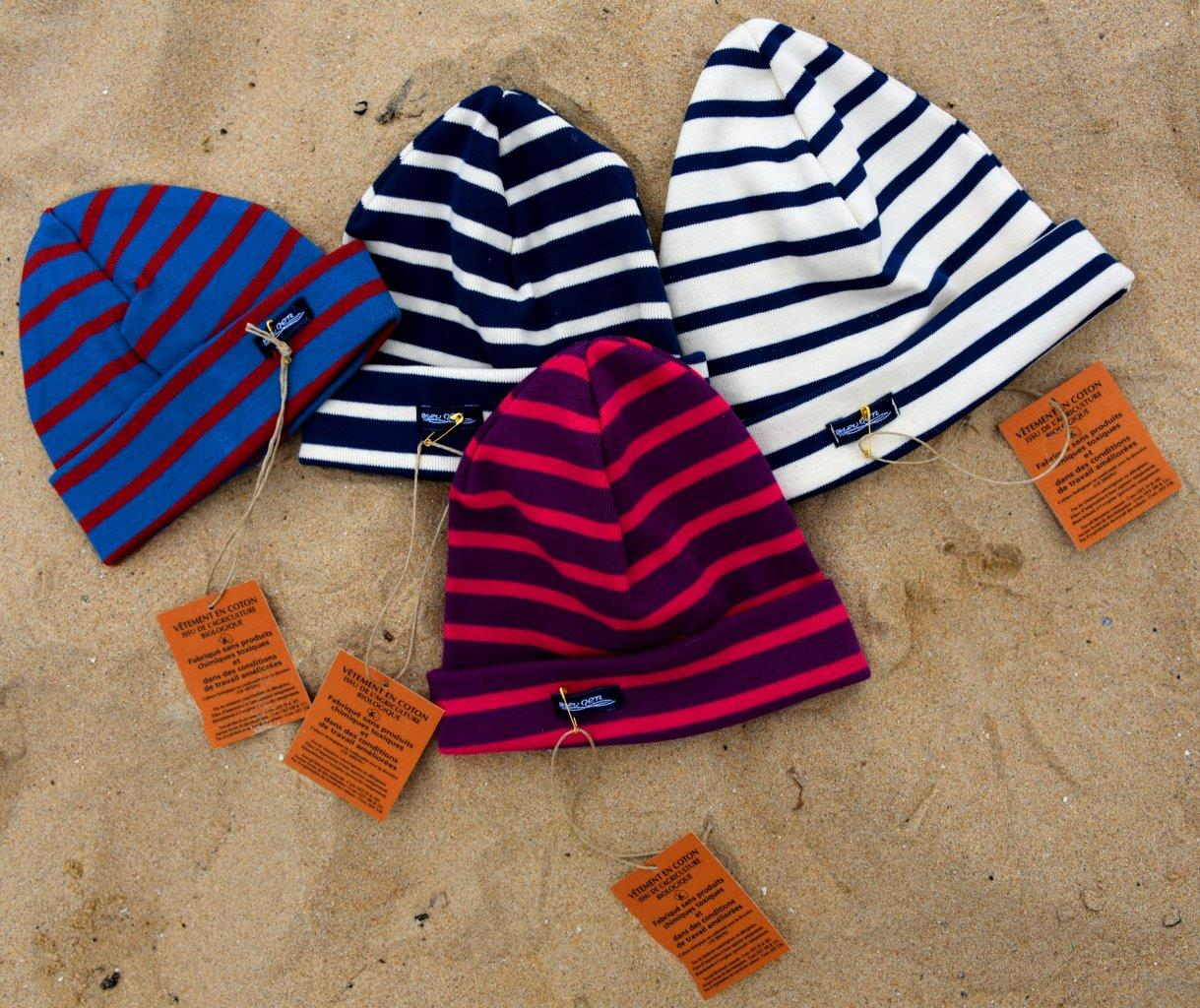 Bonnet Enfant Coton Bio Bleu Ardoise Brique - Bleu Mer 28260b9b6d2
